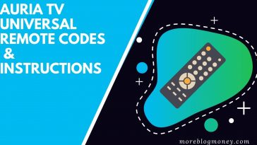Auria TV Universal Remote Codes & Instructions